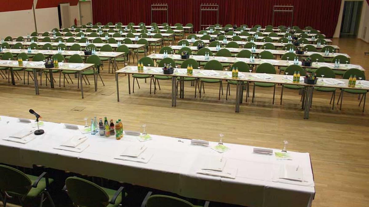 Saalplan Bürgersaal Parlamentarisch