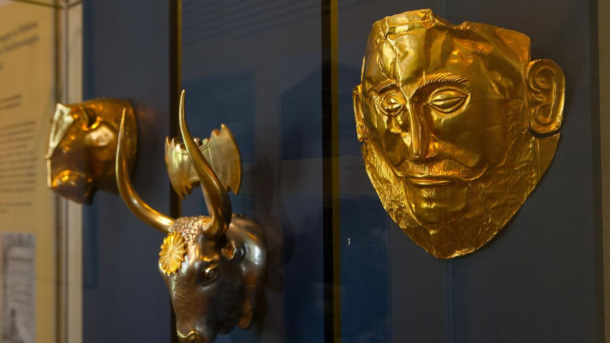 Echte Schätze der Antike - Totenmaske des Agamemnon